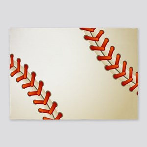 Baseball Ball 5'x7'Area Rug